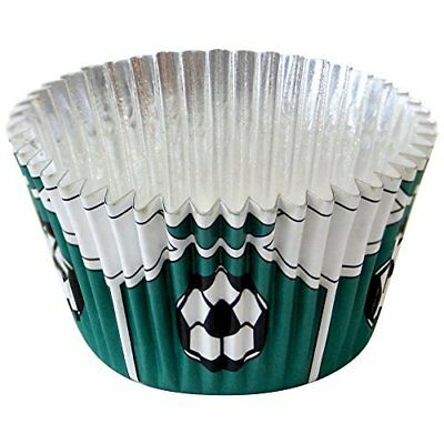 £7.94 • Buy PME Green Football Foil Lined Baking Cases For Cupcakes, Standard Size With Pack