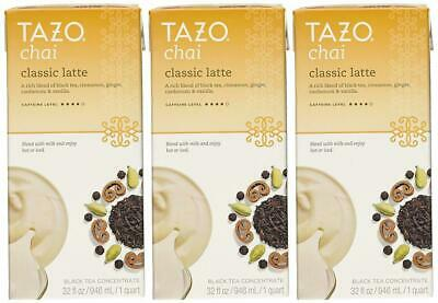 Tazo Chai Natural Spiced Black Tea Latte Concentrate 32-ounce Boxes (Pack... • 19.85£