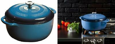 $ CDN136.70 • Buy Lodge 7.5 Quart Enameled Cast Iron Dutch Oven. XL Blue Enamel Qt,