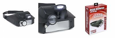 Carson LumiVisor Head Magnifier - Visor With LED Lighted Magnifier...  • 23.04£