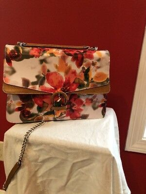 d890fdf1db49 Cavalcanti Italian Leather Floral Crossbody Handbag. Excellent Condition. •  115.00
