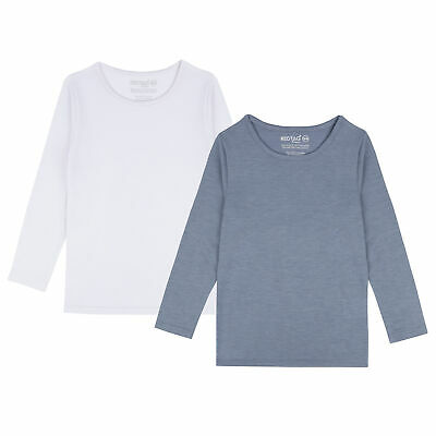 Childrens Boys Girls Thermal Long Sleeved Top Under Base Layer Warm Kids Unisex • 8.99£