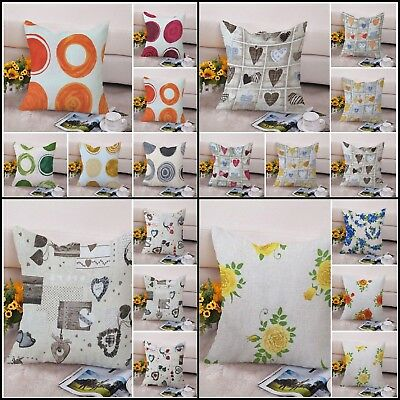 """Cushion Covers Cotton 35 Assorted Floral Pattern Home Décor 18"""" & 16"""" Reversible • 2.49£"""