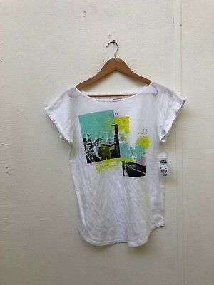 Vans Of The Wall Women's Avenue T-Shirt - Various Sizes - White - New • 9.99£