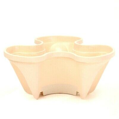 STRAWBERRY PLANTER Garden Hang Herb Large Stackable Plastic STONE 1 Pot Trio • 8.99£