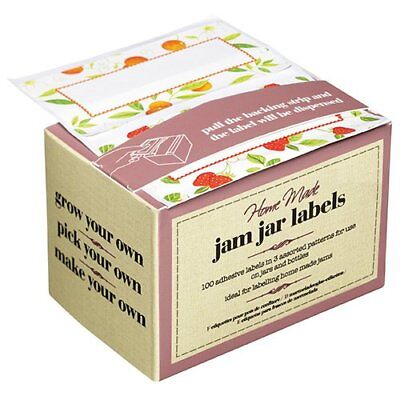 Kitchen Craft Box Of 100 Jam Jar Preserve Labels Self-Adhesive Jellies Marmalade • 7.07£