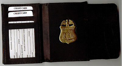 Philadelphia Police Detective Badge Recessed Cut-Out DL/CC/ID/Money Wallet • 29.66£