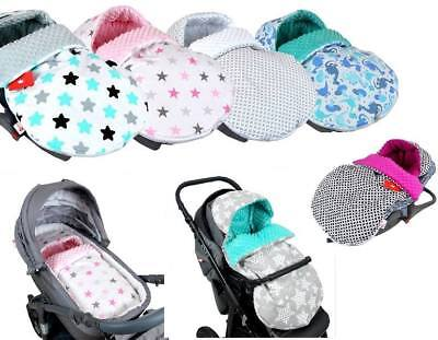 UNIVERSAL HOODED FOOTMUFF FILLED -  Minky COSYTOES / APRON • 21.99£