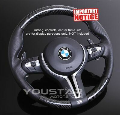$399.88 • Buy Genuine Carbon Nappa Leather Steering Wheel For BMW M Sports M4 M3 M2 X5M X6M