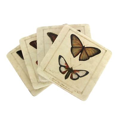 Gisela Graham Butterfly Coasters - Set Of Four • 13£