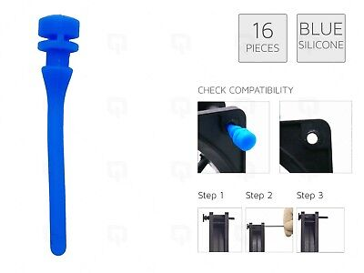 £3.99 • Buy 16 BLUE REAL Silicone Mounting Screws/Rubber/Case/Fan Anti-Vibration Mount Damp