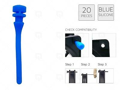 £4.99 • Buy 20 BLUE REAL Silicone Mounting Screws/Rubber/Case/Fan Anti-Vibration Mount Damp