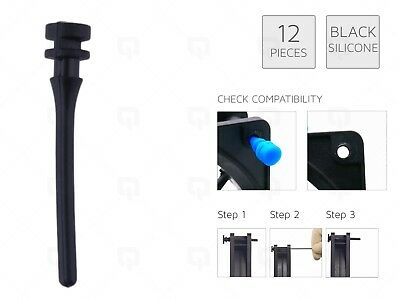 £3.49 • Buy 12 X BLACK REAL Silicone Mounting Screws/Rubber/Case/Fan Anti-Vibration Damp