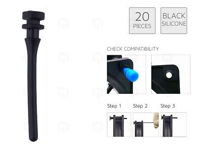 £4.99 • Buy 20 X BLACK REAL Silicone Mounting Screws/Rubber/Case/Fan Anti-Vibration Damp