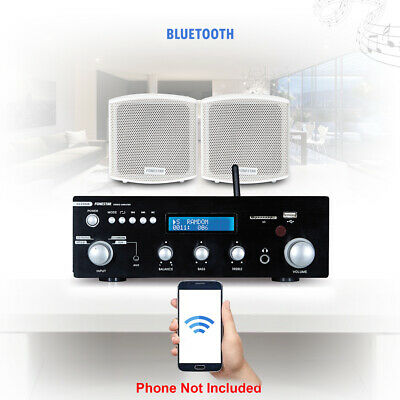 Speaker And Amplifier Home HiFi FM Stereo Bluetooth Music Sound System (Pair) • 170£