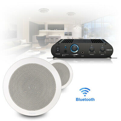 Bluetooth Home HiFi In-Ceiling Speaker And Amplifier Wireless Music Sound System • 94.99£
