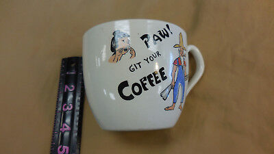 $16 • Buy Gigantic 16 Oz Vintage Paw & Ma Coffee Cup PAW Git Your COFFEE  Hillbilly Couple