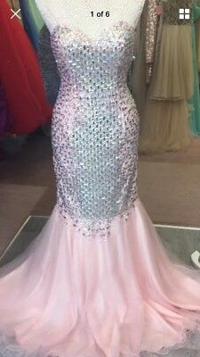 Gorgeous Terani Couture Prom / PAgent Evening Dress Size 10 Shop Sample • 185£