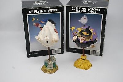 $24 • Buy PACIFIC RIM Halloween Table Decorations 6  Flying Witch Flying Ghost Resin Set/2