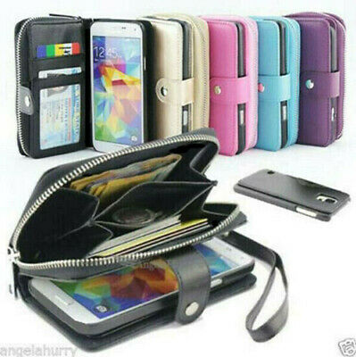 AU14.93 • Buy IPhone 12 Mini 11 Pro Max X XS XR Zip Wallet Leather Magnetic Case Cover Apple