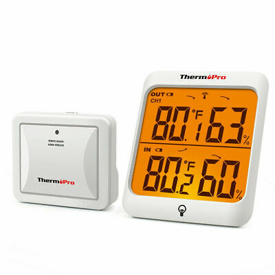 $25.99 • Buy ThermoPro Digital Wireless Indoor Outdoor Thermometer Hygrometer Humidity Meter