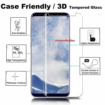 $ CDN3.44 • Buy New 3D Samsung Galaxy S8 PLUS 100% Genuine Tempered Glass Screen Protector Clear