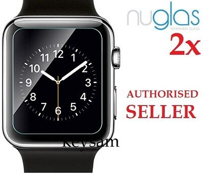 AU7.95 • Buy 2x Genuine NUGLAS Tempered Glass Screen Protector For Apple Watch Series 1/2/3/4