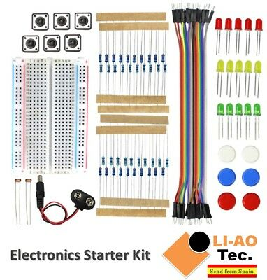 Electronics Starter Kit For Arduino UNO R3 Breadboard LED Jumper Wire Button • 6.77£