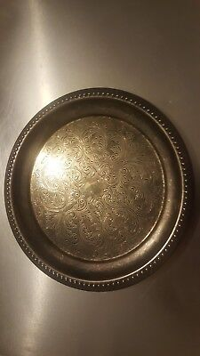 £12 • Buy Collectable Vintage Silver Plated Cavalier Made In England Plate/ Tray