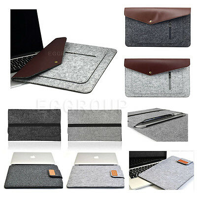 £5.41 • Buy For 11.6 -12.5  Inch Laptop Notebook Slim Case Cover Wool Felt Sleeve Pouch Bag