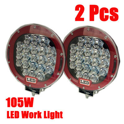 AU109.85 • Buy Hot 2PCS 7INCH 99000W Cree LED Driving Lights Spot Round Car Offroad 4x4 SUV HID