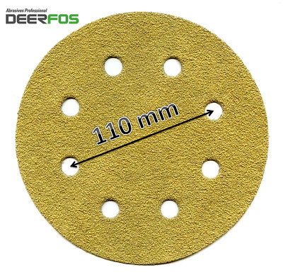 180 Mm 8 HOLE Sanding Discs DEERFOS Pads 7  Fits WORKZONE 750W Grits P40-P240  • 5.99£
