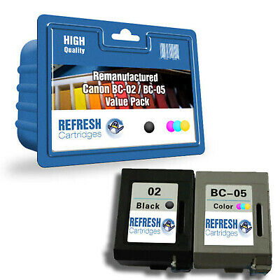 £20.97 • Buy Refresh Cartridges Value Pack Bc-02 & Bc-05 Ink Compatible With Canon Pr