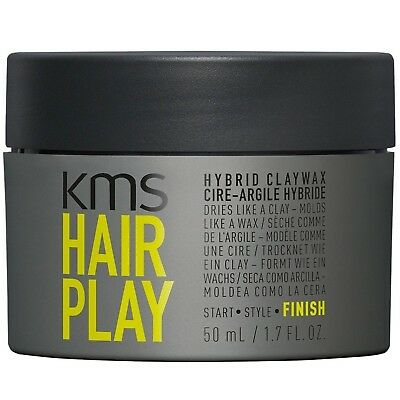 AU28.99 • Buy Kms Hairplay Hybrid Claywax 50 Ml Hair Play Clay Wax