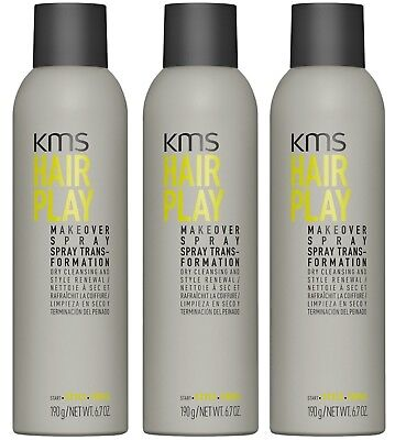 AU71.95 • Buy Kms Hairplay Makeover Spray 250 Ml X 3 Hair Play
