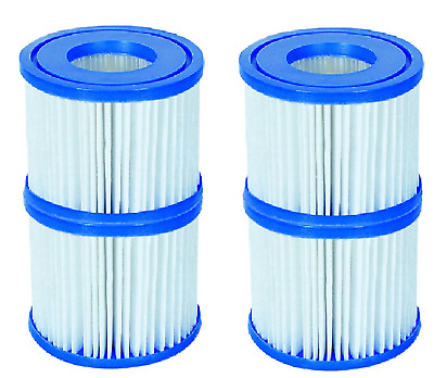 4 Pack Filter Cartridge Lay Z Lazy Hot Tub Spa Filters For All Lay Z Spas ONLY • 13.99£
