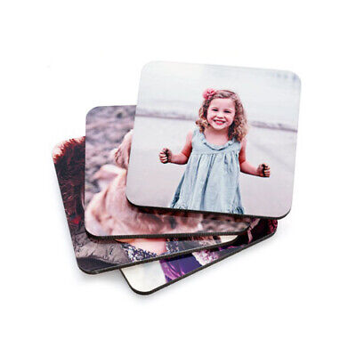 Printed Coaster  Personalised Photo Coasters  Print Any Image, Photo, Logo- Text • 2.79£