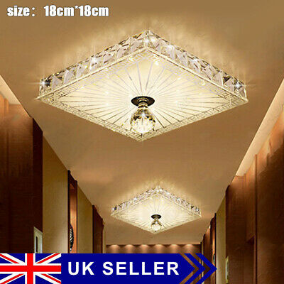 £11.69 • Buy Square Gorgeous LED Crystal Ceiling Down Light Panel Wall Kitchen Bathroom Lamp