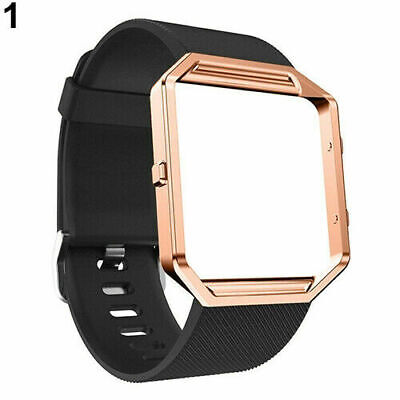 $ CDN20.10 • Buy For Replacement Smart Fitbit Blaze Silicone Band Strap Bands With Frame