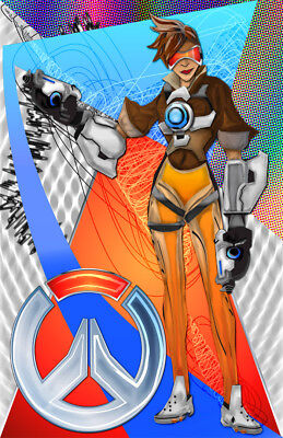 AU12.86 • Buy Overwatch Tracer Gamer Art 11 X 17 High Quality Poster