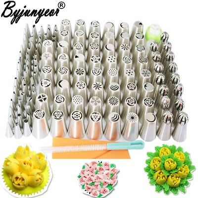 £42.03 • Buy Stainless Steel Nozzles Pastry Set Professional Kit Icing Cake Decoration 129PCS