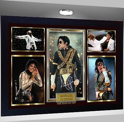 MICHAEL JACKSON Framed Photo RE PRINT POSTER Perfect Gift  • 19.99£