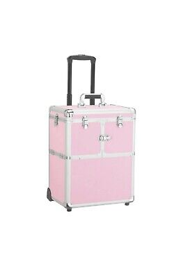 $83.99 • Buy Professional Rolling Makeup Case Artist Travel Portable Travel Makeup Trolley