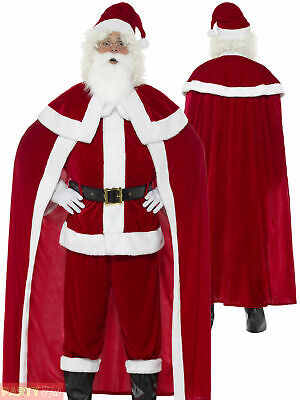 Mens Deluxe Santa Claus Costume Adults Father Christmas Fancy Dress Outfit • 46.95£