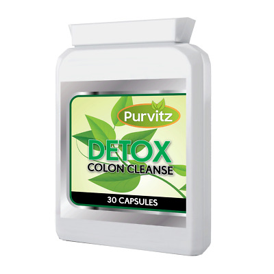Detox And Colon Cleanse Max Strength 30 Caps Digestive Liver Kidney Health UK • 4.98£