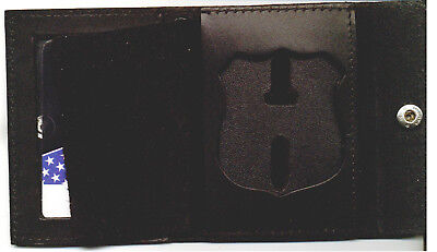 NYS EMT Police Officer Style Badge/ID Snap Wallet (Badge Not Included) • 17.15£