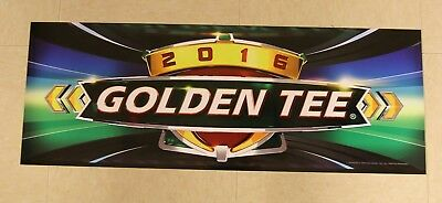 $5 • Buy Golden Tee Live 2016 Marquee Back Lit Sign, Measures 26  Long X 9.5  Tall - NEW