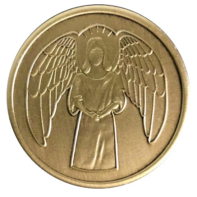 $1.70 • Buy Wendell's Guardian Angel AA Bronze Coin Alcoholics Anonymous Chip Token