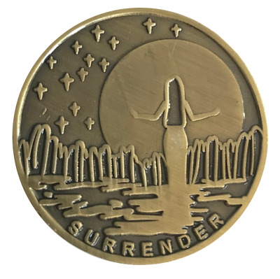 $5.75 • Buy Surrender Premium Bronze Alcoholics Anonymous AA NA Coin Token Medallion Chip