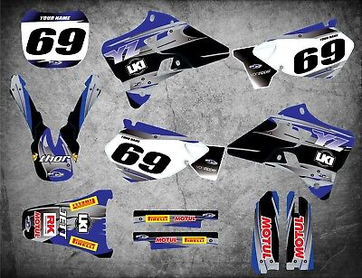 AU179.90 • Buy Custom Graphics Full Kit To Fit Yamaha YZ 250 / 1996 - 2001 STEEL STYLE Stickers